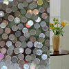 Round Pattern Electrostatic Glass Wall Sticker - CLEAR WHITE