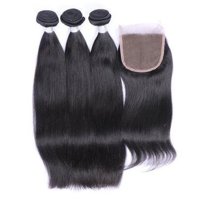 3Pcs / Lot 7A Remy Indian Long Silky Straight Human Hair Weaves