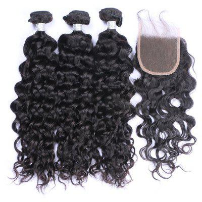 3Pcs / Lot 7A Remy Long Natural Wave Indian Human Hair Weaves