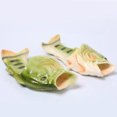 Plastic Color Block Fish Shaped Slippers