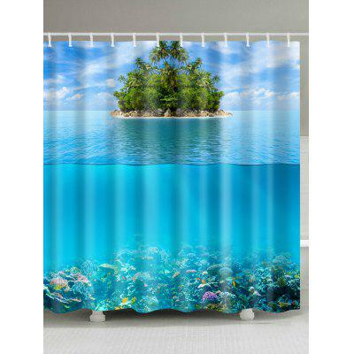 Ocean Island Waterproof Polyester Shower Curtain