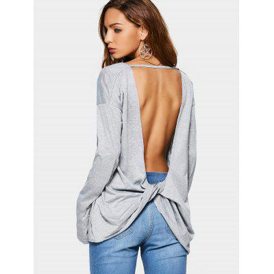 Twisted Open Back Tee