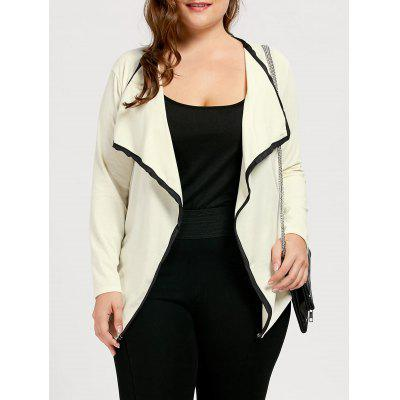 Contrast Plus Size Waterfall Jacket