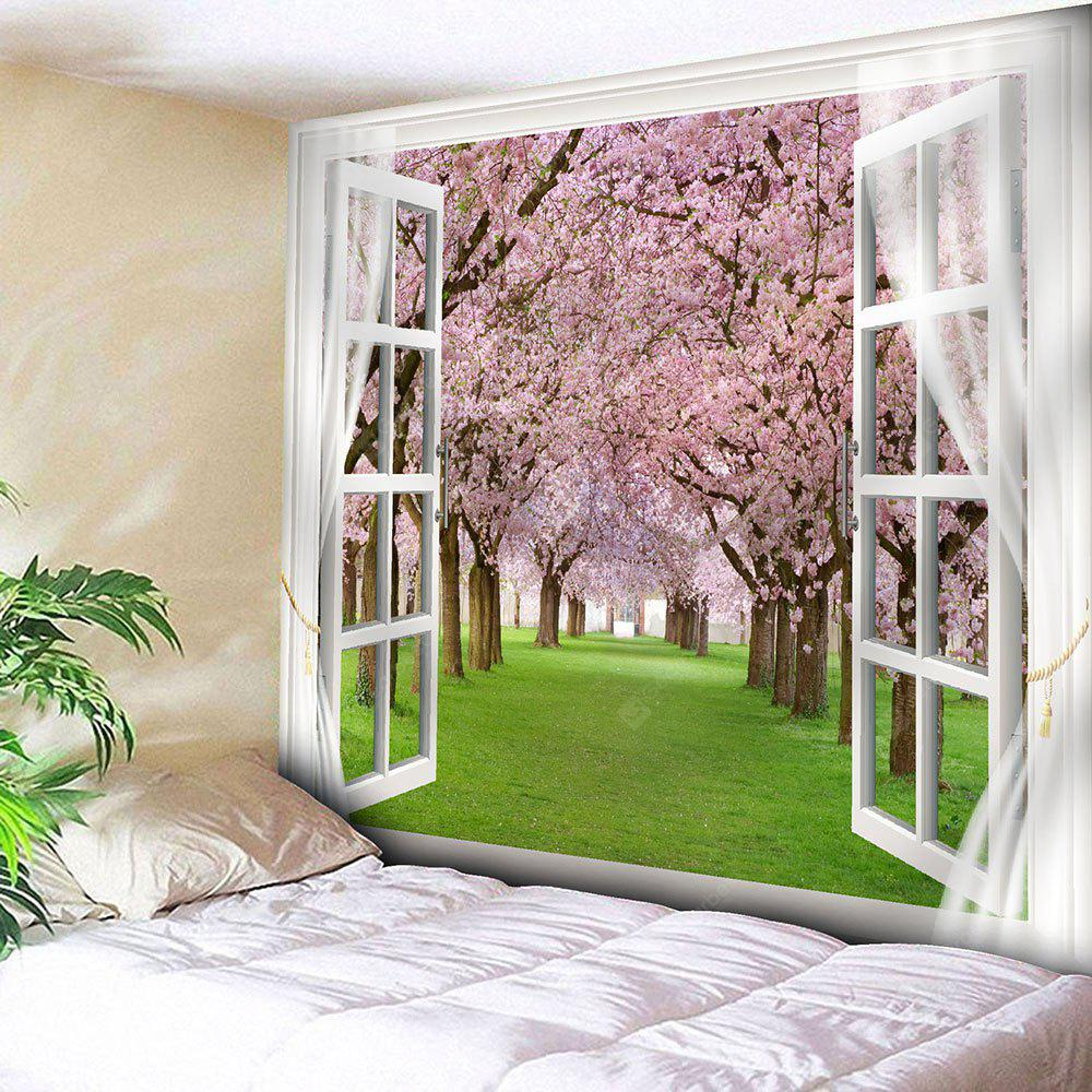 PINK Window Peach Blossom Forest Wall Tapestry