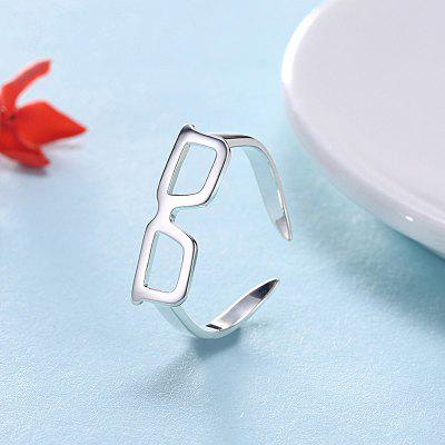 Cute Alloy Glasses Cuff Ring