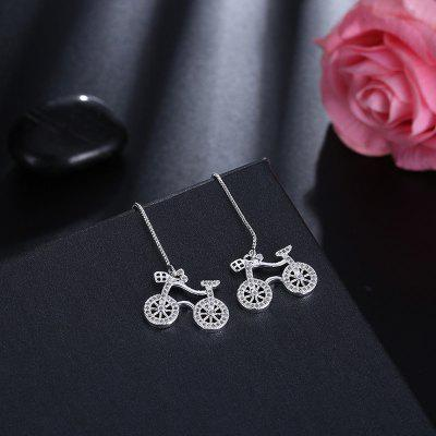 Rhinestone Cute Bike Chain Drop Earrings