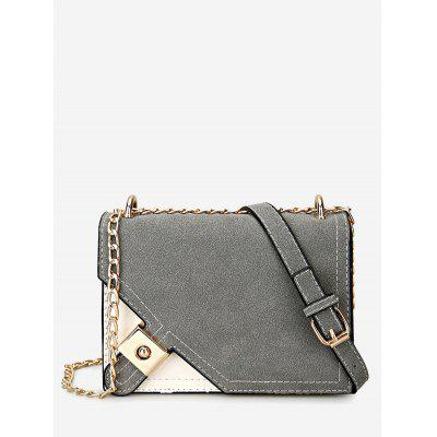 Buy GRAY Color Block Metal Embellished Crossbody Bag for $21.42 in GearBest store