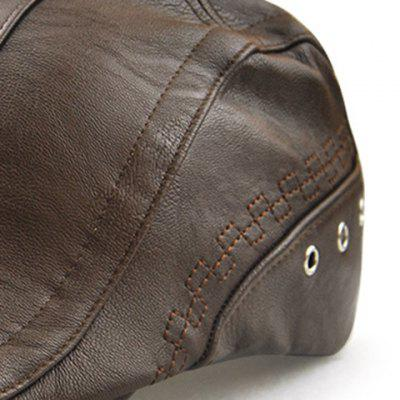 Faux Leather Round Rivet Embellished Newsboy HatMens Hats<br>Faux Leather Round Rivet Embellished Newsboy Hat<br><br>Gender: For Men<br>Group: Adult<br>Hat Type: Newsboy Caps<br>Material: Faux Leather<br>Package Contents: 1 x Hat<br>Pattern Type: Solid<br>Style: Fashion<br>Weight: 0.2000kg