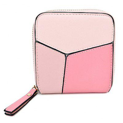 Faux Leather Zip Around Coin Purse