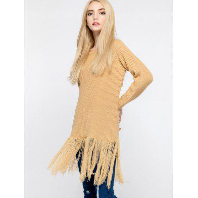 Sweater Long Manches Raglan à Glands