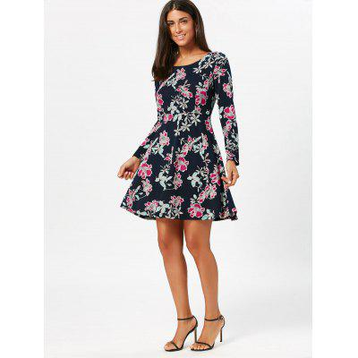 Long Sleeve Floral Print Skater DressWomens Dresses<br>Long Sleeve Floral Print Skater Dress<br><br>Dress Type: Skater Dress<br>Dresses Length: Mini<br>Elasticity: Micro-elastic<br>Material: Polyester, Spandex<br>Neckline: Scoop Neck<br>Package Contents: 1 x Dress<br>Pattern Type: Print, Floral<br>Season: Fall, Spring<br>Silhouette: Fit and Flare<br>Sleeve Length: Long Sleeves<br>Style: Brief<br>Weight: 0.3600kg<br>With Belt: No