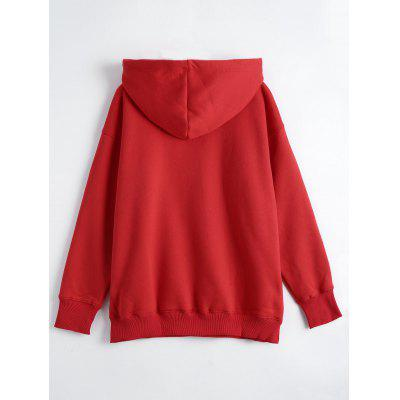 Kangaroo Pocket Flock Loose Fit HoodieSweatshirts &amp; Hoodies<br>Kangaroo Pocket Flock Loose Fit Hoodie<br><br>Clothing Style: Hoodie<br>Material: Cotton, Polyester<br>Neckline: Hooded<br>Package Contents: 1 x Hoodie<br>Pattern Style: Solid<br>Shirt Length: Long<br>Sleeve Length: Full<br>Weight: 0.6300kg