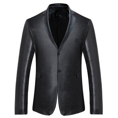 Buy BLACK Lapel Collar Single Breasted Metallic Blazer for $39.02 in GearBest store