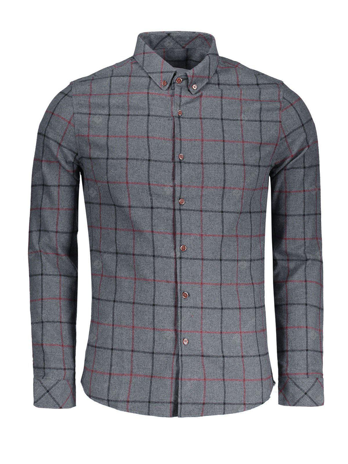 Flannel Checked Mens Shirt
