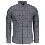 Flannel Checked Mens Shirt - DEEP GRAY
