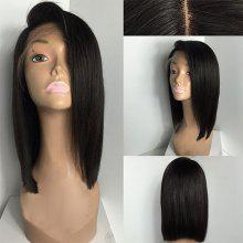 Medium Deep Side Part Straight Bob Lace Front Human Hair Wig