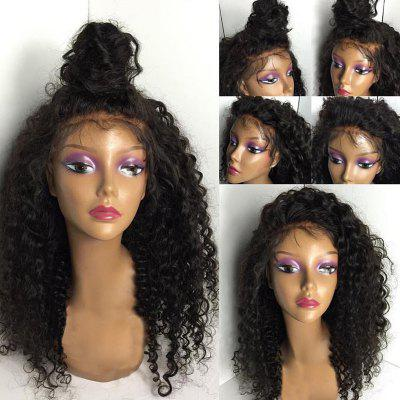Lange freie Part Shaggy Kinky Curly Lace Front Menschliche Haar Perücke