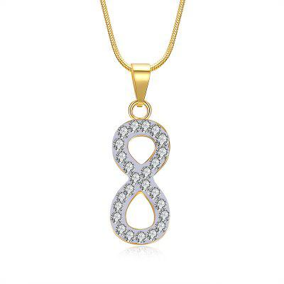 Buy GOLDEN Rhinestone Insert Infinite Charm Necklace for $5.50 in GearBest store