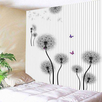 Waterproof Black Dandelion Pattern Wall Hanging Tapestry