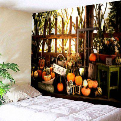 Buy COLORMIX Halloween Pumpkin Graphic Wall Hanging Tapestry for $18.28 in GearBest store