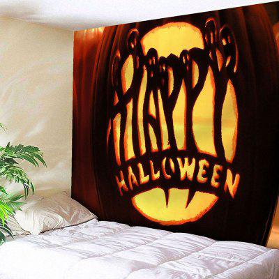 Buy YELLOW Pumpkin Lamp Halloween Graphic Wall Tapestry for $15.57 in GearBest store