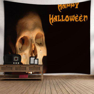 Happy Halloween Skull Wall TapestryTapestries<br>Happy Halloween Skull Wall Tapestry<br><br>Feature: Removable, Washable<br>Material: Nylon, Polyester<br>Package Contents: 1 x Tapestry<br>Shape/Pattern: Letter,Skull<br>Style: Festival<br>Theme: Halloween<br>Weight: 0.2700kg