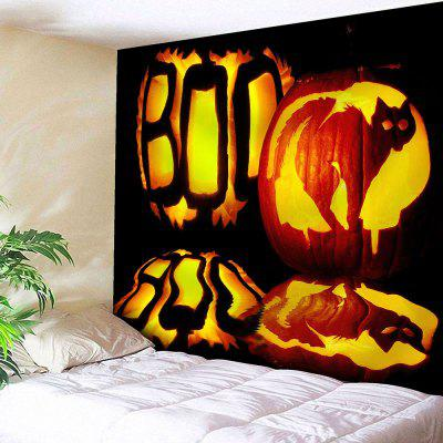 Buy BLACK Halloween Pumpkin Lantern Wall Art Tapestry for $18.28 in GearBest store