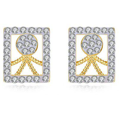 Rhinestone Geometric Human Figure Stud Earrings