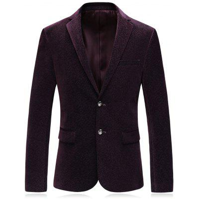 Single Breasted Revers Corduroy Blazer
