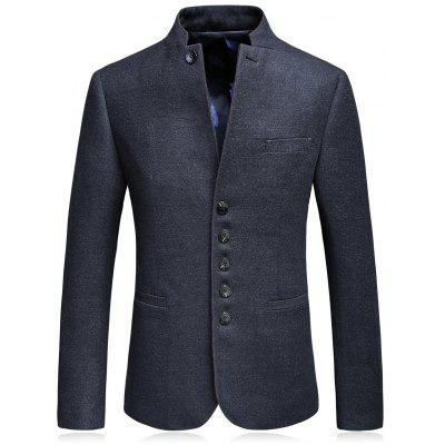 Mandarin Collar Single Breasted Blazer