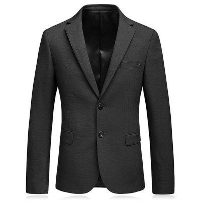 Lapel Flap Pocket Business Blazer