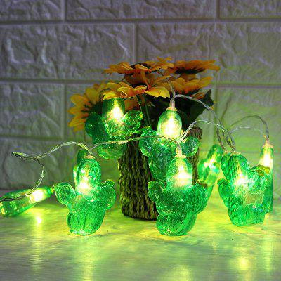 Battery Operated Cactus Shaped LED String Lights