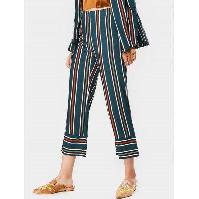 Stripes Ninth High Waisted Straight Pants