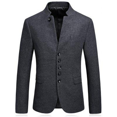 Mandarin Collar Single Blasted Blazer