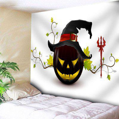 Jack O Lantern Halloween Wall Tapestry