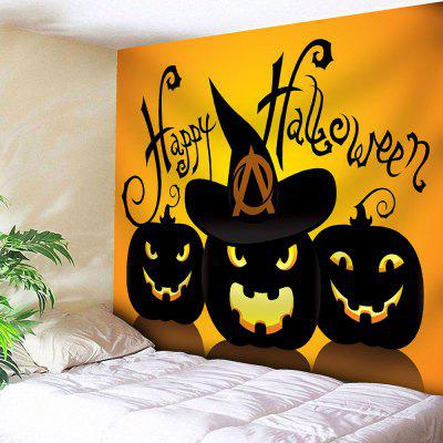 Jack O Lantern Happy Halloween Wall Tapestry