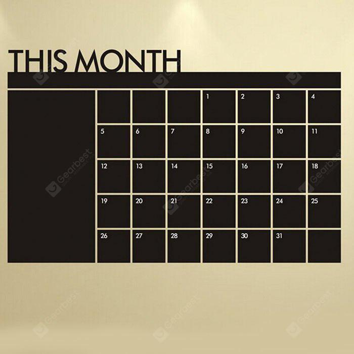 Blackboard Calendar Record Printed Wall Sticker