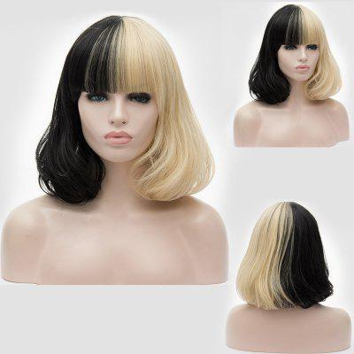 Short Full Straight Two Tone Bob peruca de festa de Halloween sintética