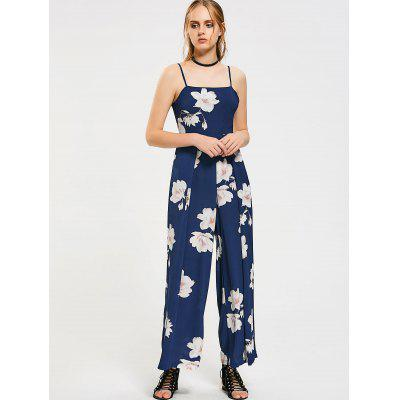 Bow Tied Floral Cut Out Jumpsuit