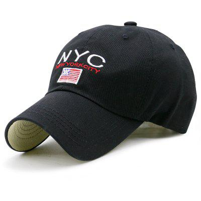 Flag and NYC Embroidery Baseball Dad's Hat