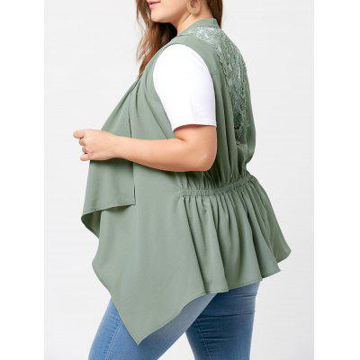 Plus Size Lace Insert Waterfall Wasitcoat