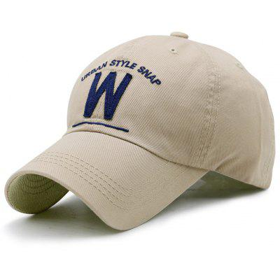 Embroidery and W Shape Baseball Hat