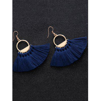 Vintage Circle Tassel Fish Hook EarringsEarrings<br>Vintage Circle Tassel Fish Hook Earrings<br><br>Earring Type: Drop Earrings<br>Gender: For Women<br>Length: 7CM<br>Package Contents: 1 x Earring (Pair)<br>Shape/Pattern: Tassel<br>Style: Trendy<br>Weight: 0.0300kg