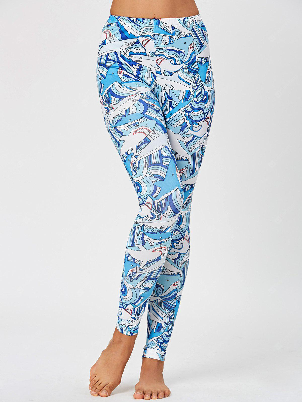Shark Print Skinny Leggings