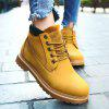 Faux Leather Tie Up Short Boots - YELLOW