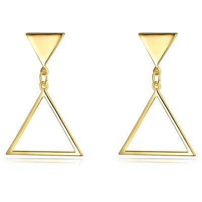 Metal Triangle Geometric Earrings