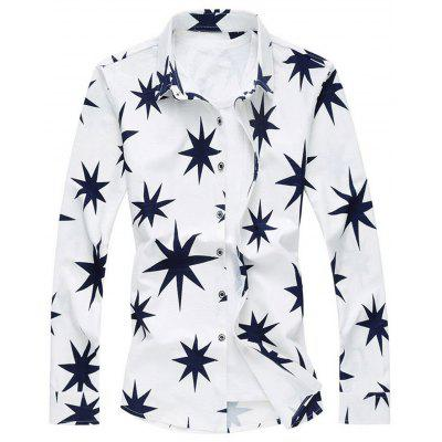 8 Point Star Plus Size Camiseta de manga larga