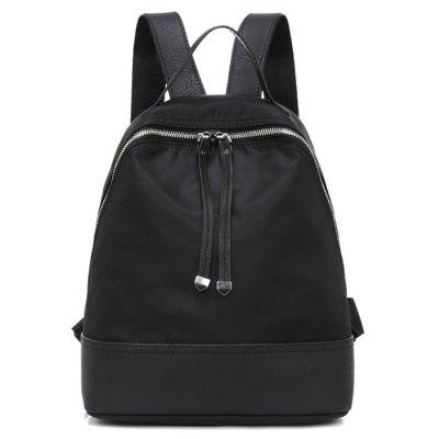 Buy BLACK Nylon Zippers Backpack for $22.14 in GearBest store