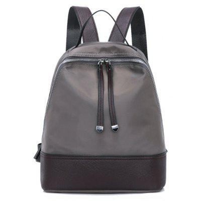 Buy GRAY Nylon Zippers Backpack for $22.14 in GearBest store