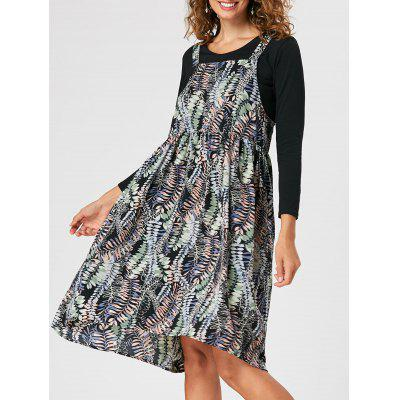 Printed Flowy Overall Dress
